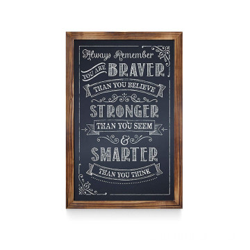 Precision Manufactured 11*17Inch Wood Chalkboard Wall Sign Boards