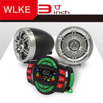 WLKE Motorcycle Bluetooth Wireless Speakers Audio System Stereo MP3 Radio ATV UTV Scooter Marine