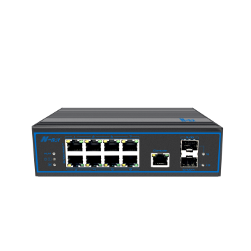 10-port full gigabit managed Industrial None-PoE switch