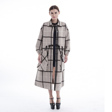 Manteau en cachemire Fashion Plaid