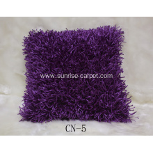 Polyester Shaggy Cushion With Design