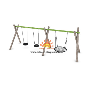Outdoor Playground Equipment Tire Swing Set Dimensions