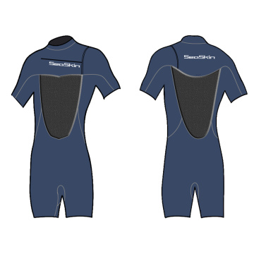 Seakin Jako 3mm Chest Zip Shorty Sleeve Wetsuit