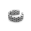 New Design Hip Hop Open Cuff Chain Rings