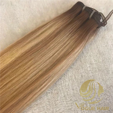 Balayage remy hybrid weft hair with top quality