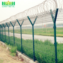 Powder  coated  airport fence