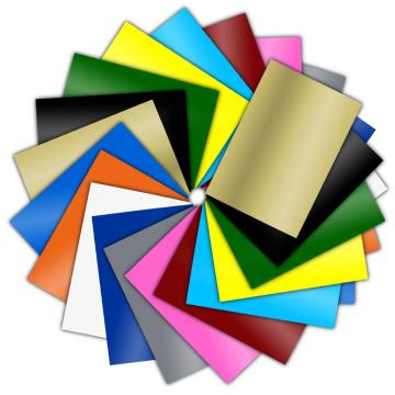 HOHOFILM 9colors/pack A4 Craft Vinyl Cutting Vinyl Adhesive Backed vinyl For CAR Cup Wall Stickers Cutting Vinyl pack