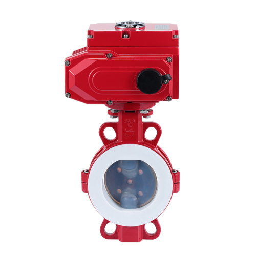 Stainless steel  electric wafer butterfly valve