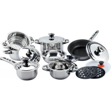 Non-stick coating 16pcs wide edge cookware