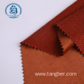 100% Polyester Knitted French Terry Faux Suede Fabric