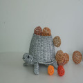 grey rattan handicraft tortoise decoration pot