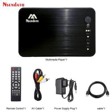 Mini Full HD Media multimedia Player Autoplay 1080P USB External HDD Media Player With HD Cable VGA AV FOR SD U Disk MKV RMVB