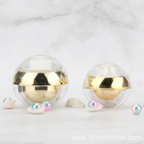 Acrylic plastic material ball shape packaging hand cream jars