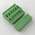 Vertical straight pin connector beside sealed terminal block
