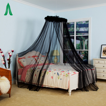 Conical Circular Black Mosquito Netting Bed Canopy