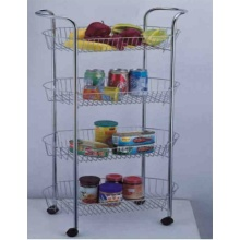 4-Tier Storage Cart With Handle