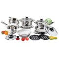 Hot sale 16pcs  wide edge cookware set