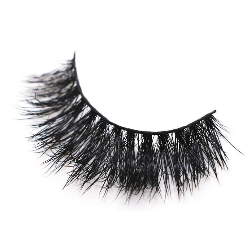 3d mink fur false eyelash 3d mink eyelashes with box
