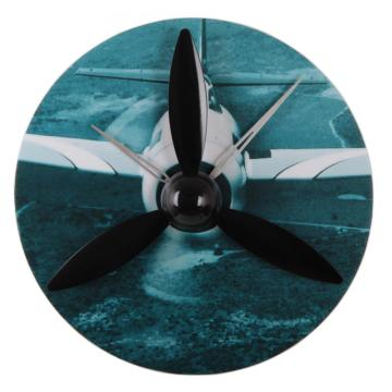 Propeller Aircraft  Gear Wall Clock