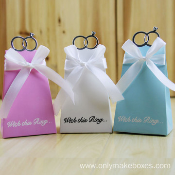 Custom Gift Box Wedding Favors Paper Candy Box
