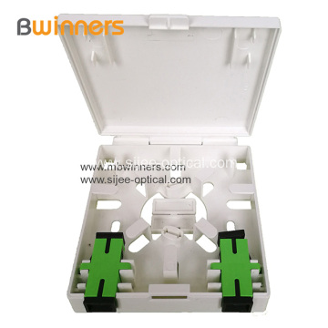 2 Ports FTTH Box SC Fiber Optic Terminal Box