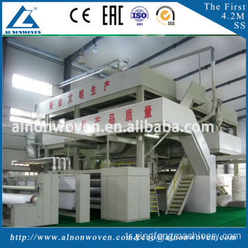 Best qulaity 3.2m S model PP non woven fabric making machine with high efficiency