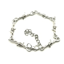 New Wire Tiny Bracelet Punk Gothic Hip Hop Women's Bracelet Barbed Wire Tiny Barbed Wire Bracelet Gift Suffocation