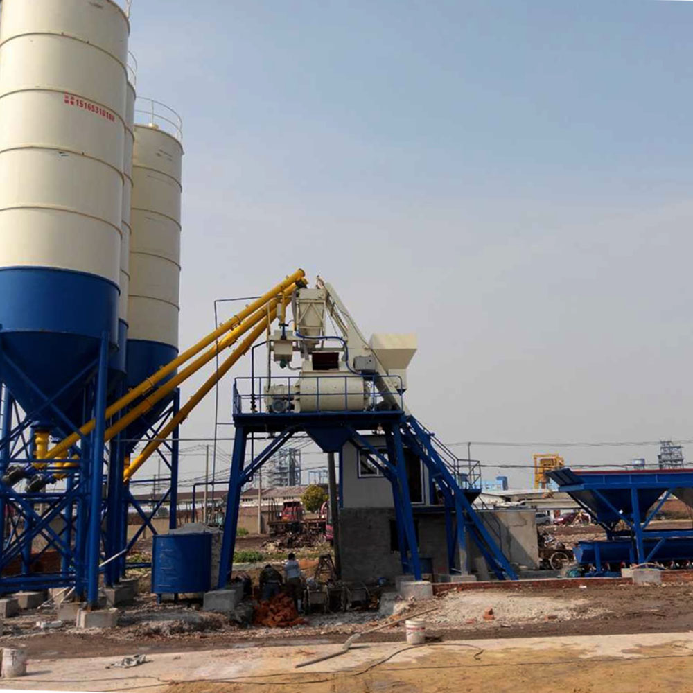 75m3 h precast concrete batching plant for sale