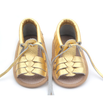 New Arrival Spain Genuine Leather Baby Infant Sandals