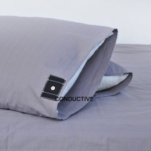Grey Organic Cotton Silver Earthing Grounding pillowcase