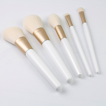 5PCS white color makeup brush sets professional