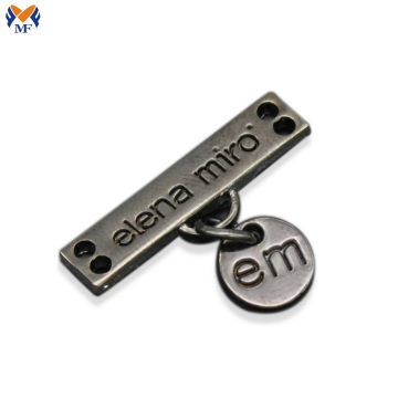 Custom metal letter logo for handbags