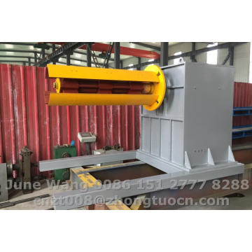 steel coil hydrauclic decoiler with 5T