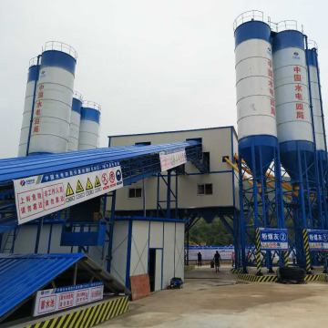 120m3h precast power type concrete batching plant