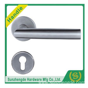 SZD STH-122 Commercial Lever Stainless Steel Round Door Handles On Square Rose