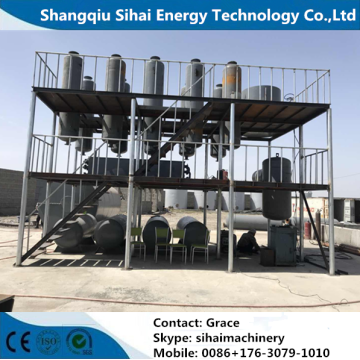 Vacuum Waste Tire Oil Refining To Diesel Plant