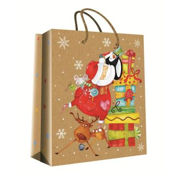 CHRISTMAS SERIES KRAFT GIFTBAG33-0