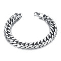 Stainless Steel Thick Chain Link Bracelet Mens