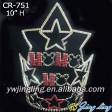 Custom Star Pageant Crown With Cute Bear