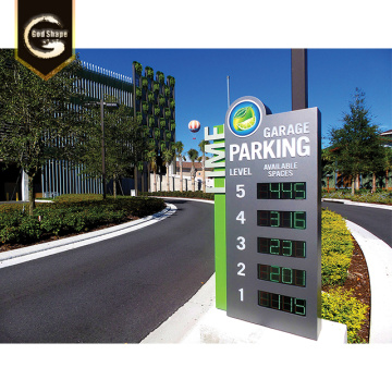 Custom City Park Aluminum Way Finding Signage