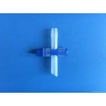 Medical T cross valve for urine bag used