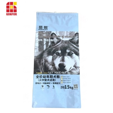 15kg custom printed aluminum premium dog food bag