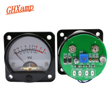 GHXAMP VU Meter With LED Backlight Front Rear Driver Board 45mm Pointer type VU Level Meter Direct Connect Amp Output 2PCS