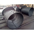 Hardfacing Clad Abrasion Resistant Pipe with Flange