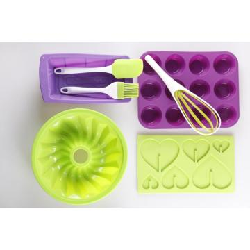 Silicone cake baking set for home kitchen