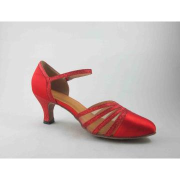Red ballroom shoes for girls