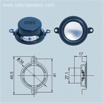 High quality 34mm 4ohm 3w multimedia speaker unit