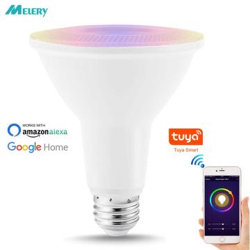 E26 E27 Wifi Smart Bulb Flood Light RGB PAR30 12W Equivalent 75W LED Spotlight 800LM Voice Remote Control by Alexa Google Home