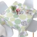 Tablecloth  PVC Green Pattern