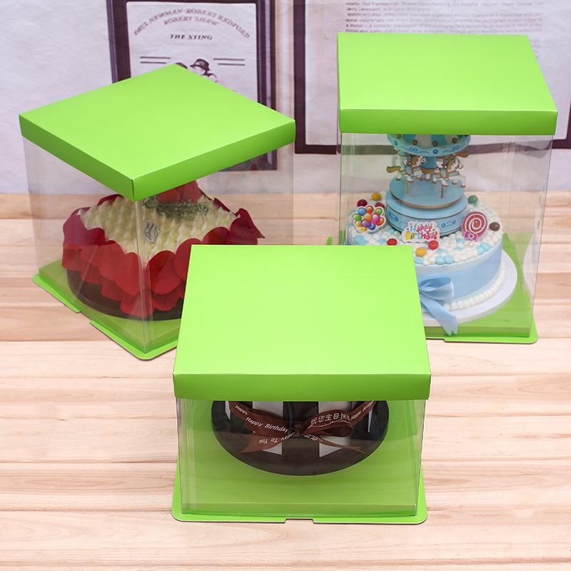 Plastic cake packaging box